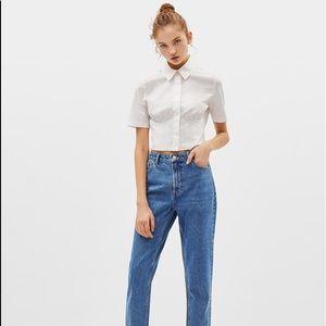 def5e39c2b0c9a Bershka High Waist Mom Jeans